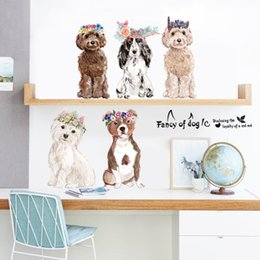Chinese 3d Wall Stickers Australia - Wholesale 150*60cm Fancy of Dogs Wall Stickers Wallpaper Paper Peint 3d Home Decor Bathroom Kitchen Accessories Household Suppllies