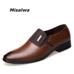 pointy black dress shoes men 2018 - Misalwa Spring Autumn Men Formal Wedding Shoes Luxury Men Business Dress Shoes Loafers Pointy Big Size 38-47 cheap point