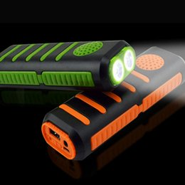 flashlight torch speaker NZ - Portable Rechargeable 18650 Battery torch Power Bank Bluetooth Speakers flashlight 3 in 1 Outdoor mp3 music playing flashlight