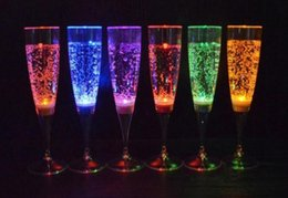 Champagne Coupes Australia - Water Inductive LED Cup Glowing Champagne Beer Wine Drink Liquid Fruit Juice Glass Mug Festival Party Supplies SN2035