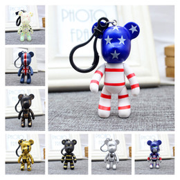 cool key rings Canada - Wholesale Cool Keyrings Cute Teddy Bear Keychain 22 Styles Gloomy Bear Womens Bag Charms Car Key Ring Key Chain For Men Children Qsplp