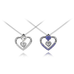 $enCountryForm.capitalKeyWord UK - 925 Silver Fashion I love you to the moon and back necklace pendant heart lovers necklace Valentine's Day gift