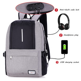 backpack men style 2019 - USB Charge Anti Theft Backpack for Men Casual Laptop Mens BackpacFashion Travel Duffel School Bags Bagpack Sac A Dos dis