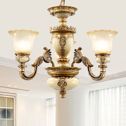 free energy saving bulbs NZ - Pendant lights European resin pendant chandelier lamps personalized luxury vintage American royal led pendant lightings with free bulbs