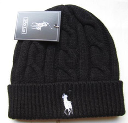 Skull tieS online shopping - Men Women Beanie Caps new Colors polo Autumn Winter Knitted Skull Caps Fashion Beanies Warm Outdoor Hats Brand Crochet Casual Caps Bonnet