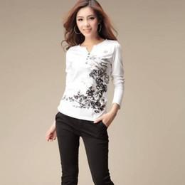 Discount wholesale graphics tees - Womens Tops Fashion 2017 Graphic Tees Autumn T Shirt Women Tshirt Printed T-shirt Long Sleeve Cotton Tee Shirt Femme Cam