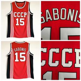CCCp shirt online shopping - Mens Arvydas Sabonis Vintage CCCP TEAM RUSSIA Basketball Jersey Cheap Arvydas Sabonis Stitched Red Shirts S XXL