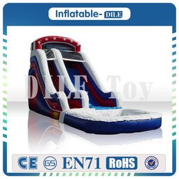 Pool inflatable water slides online shopping - Door To Door Inflatable Water Slide Inflatable Pool Slide Commercial Quality Inflatable Weter Slide
