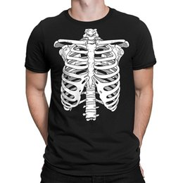 $enCountryForm.capitalKeyWord NZ - Skeleton Ribcage Halloween Men's T-Shirt, SpiritForged Apparel Good Quality Brand Cotton Shirt Summer Style Cool T Shirts