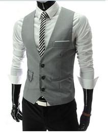 $enCountryForm.capitalKeyWord Australia - Polyester Dress Vests For Men Slim Fit Mens Suit Vest Male Waistcoat Gilet Homme Casual Sleeveless Formal Business Jacket