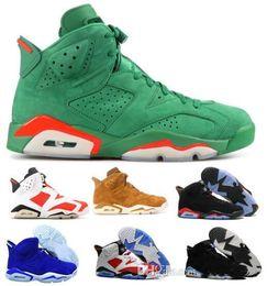 cheap for discount b7da1 7596b Pas cher 6 Basketball Chaussures Hommes Femmes Blanc 6s VI UNC Infrarouge  Gym Carmine Cat Gatorade Harvest Oreo Suede Tennis Entraîneurs Sport  Chaussures ...