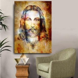 Painting Christ Australia - New Design Jesus Christ Figure HD Wall Pictures For Living Room Quality Canvas Oil Painting Home Decor Posters Artworks