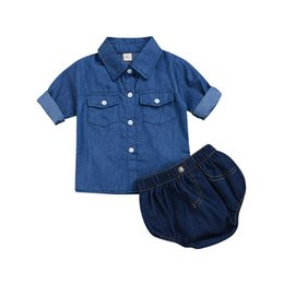 cbe6a707ae6 newborn jeans girls 2019 - Newborn Infant Baby Girl Denim Outfit Clothes  Tops T-shirt