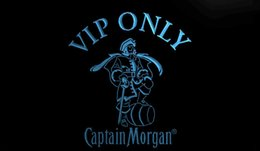 Wholesale LS747 b VIP Only Captain Morgan D LED Neon Light Sign Customize on Demand colors to choose