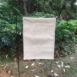Chinese  blank linen garden flag polyester burlap garden banner decorative yard flag for embroidery and sublimation 12x16 inches manufacturers