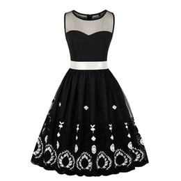 halloween costume vintage see through mesh embroidery dress women 2018 o neck casual dresses black sexy party dress