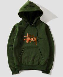 Wholesale hoodies thick men online – oversize New fashion Warm hoodie embroidery men women fashion sweatshirts hooded mens skateboard pullover hoodies men hoodie