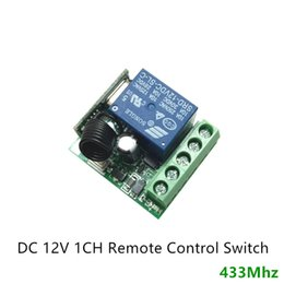 Wholesale 12V single way wireless remote control board DC12V A CH MHz Wireless Relay RF Remote Control Switch Receiver