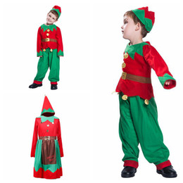 9ae1bdba7e891 Baby Xmas Outfits Boys Girls Christmas Elf with Headband Sets Autumn  Boutique Kids Cosplay Home Clothing Sets 50sets OOA5846