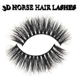 $enCountryForm.capitalKeyWord Australia - 3D horse hair Eyelashes Dramatic horse hair Lashes Hand Made Thick Fake False Eyelashes Beauty Eyelash Extensions Tools