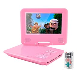 High Quality 7 Inch Portable DVD Player With 270 LCD Screen 3 Hours Rechargeable Battery Girls Kids Birthday Return Gift
