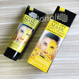 Maschera dorata Peel Off Gold Collagen 120ml Deep Purificante purificante peeling maschera viso Rimuovere blackhead Peel golden Masks