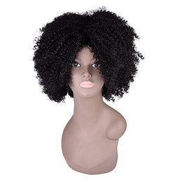Kanekalon Lace Wigs NZ - Cheap Afro Kinky Curly Full Lace Wigs For Black Women Wigs Kanekalon Fiber Short Kinky curly Hair wig