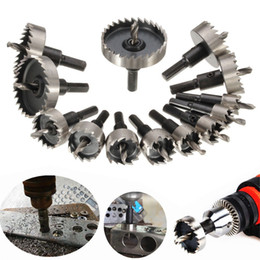 "Hole Saw Drill Bit For Metal NZ - Hole Saw Kit HSS Drill Bit Hole Saw Set for Stainless, Metal, Wood, Set of 13 Pcs, 5 8""- 2 1 9"""