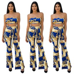1beecdb307 Streetwear Sexy Jumpsuit Full Length Crop Top And Long Pants Two Pieces  Bodysuit Women Body