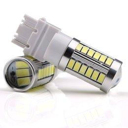 4X 3157 3156 T25 33SMD LED Auto para luz 33-5730 Chips Rojo LED Cola Luz de freno bombillas de señal en venta