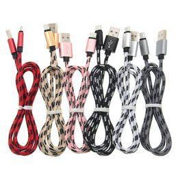 1M / 2M / 3M длинный прочный плетеный USB-кабель для зарядки тип-c Кабель для Samsung s9 s8 plus Note 8 HTC Sony LG Micro USB Проводное освещение 8-контактный кабель-адаптер на Распродаже