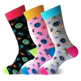 Fun Knee Socks Canada - Color team combed coon men socks Harajuku Street hip hop fun taste socks male   female casual designer brand art couple funny