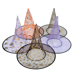 $enCountryForm.capitalKeyWord NZ - Halloween Costume Gilding Wizard Witch Hat Halloween Party Cosplay Props All Saint'S Day Cool Sharp Corner Hats for Adults Kids 2018