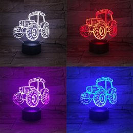 TracTor lighTs online shopping - Party Favor D Night Light Colorful Touch Fun Bedroom Bedside Lamp Originality Remote Control Tractor Lamps For Kids rw Ww