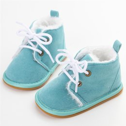 Chinese  New Arrival Fashion Solid Lace-Up Baby Boots Cross-tied For Spring Autumn Winter Baby Shoes For Warm Plush Boots Shoes manufacturers