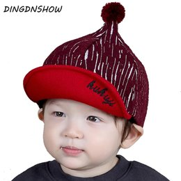 e68782610db  DINGDNSHOW  2018 Brand Baseball Cap Kids Cotton Warm Winter Cap Baby  Lovely Snapbacks Hat for Boys and Girls