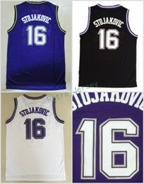 Hottest 16 Peja Stojakovic Jerseys Uniforms For Sport Fans Peja Stojakovic  Shirt Rev 30 New Material Team Away Purple Black White 706aeb39e