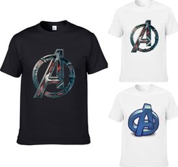 Chinese  2018 Hot Movie The Avengers Printed Tshirt Man A Word Picture Print Mens Design Short Sleeve Tee Marvel Cosplay Tops T-Shirt manufacturers
