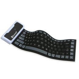 Chinese  BT Mini Keyboard Foldable Portable 85 Keys Ultra Thin Dustproof Waterproof Wireless Keyboard For Desktop Laptop Mobile phone manufacturers