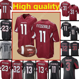 16c9b2f11 Cardinals 11 Larry Fitzgerald Jersey Men's 31 David Johnson 3 Josh Rosen 32  Tyrann Mathieu 13 Kurt Warner Football Jerseys