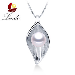 0cea2c85e309 Elegante 4 colores AAAAA perla genuina collar colgante 925 joyas de plata  esterlina con caja de