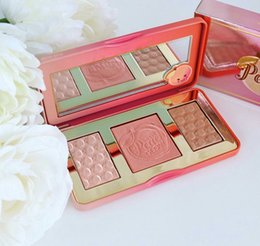 color makeup cosmetic blush blusher palette NZ - Makeup Palette Sweet Peach GLOW 3 Color Blush Powder Blusher Brands Eyeshadow Face Make Up Cosmetics Kits Smell like Peaches free shopping