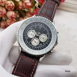 Free shipping all the dial work crime watch top watchleather belt quartz watch, leisure fashion watches on Sale