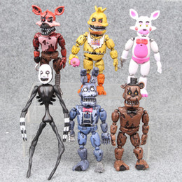 skeleton action figure Canada - HOT SALE 6PCS 17CM Five Nights at Freddy's Action Movies Figures Human Skeleton Bonnie the Bunny Foxy the Pirate Fox Christmas Gifts T12