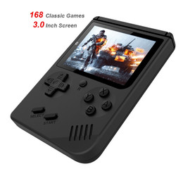 Discount handheld pocket games - New Retro Video Game Console 8 Bit Retro Mini Pocket Handheld Game Player 168 Classic Games Console Best Gift for Child