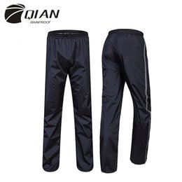 Discount outdoor riding pants - 2015 New Double Layer Thicker Outdoor Waterproof Windbreak Motorcycle Bicycle Raincoats Ride Rain Pants High Quality
