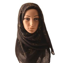 3303bbfb3af95 (10 pcs) 2018 New Muslim hijab Women cotton scarf,rhinestone,Plain cotton  diamond scarf,shawls and headscarf, headcloth,FGY082.
