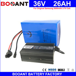 Motor Bicycles Australia - BOOANT For Original 18650 36V 26AH E-Bike Scooter Battery pack for Bafang 1500W Motor Electric Bicycle Battery 36V +5A Charger