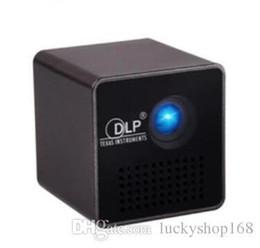 Al por mayor-Original UNIC P1 + WIFI Soporte para proyector móvil inalámbrico Miracast DLNA Pocket Home Movie llevó proyector DLP MINI Proyector Beamer
