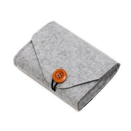 Data Power Bank UK - LASPERAL New Fashion Power Bank Storage Bag Mini Felt Pouch For Data Cable Mouse Travel Organizer Electronic Gadgets Organizador